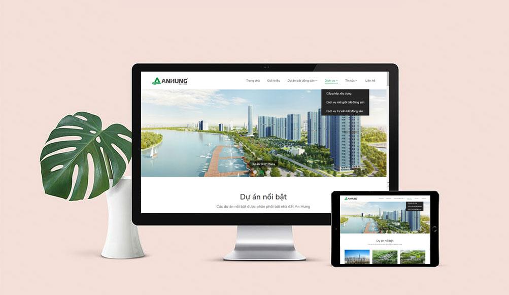 thiết kế web bất động sản đẹp chuẩn SEO tại hải dương